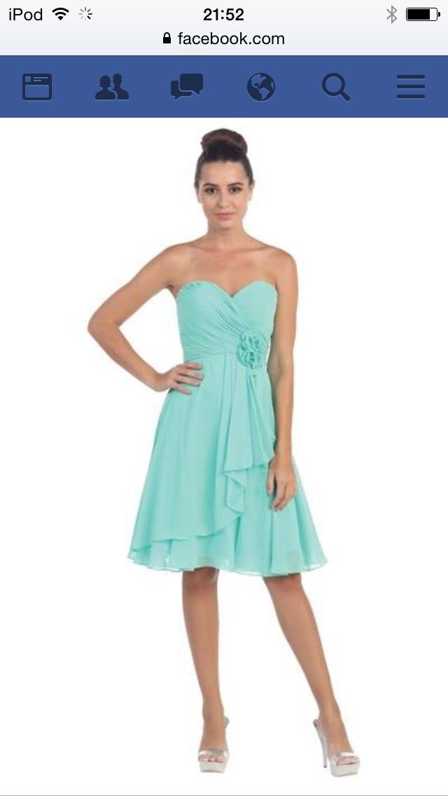 robe de bal courte turquoise robe bal pinterest. Black Bedroom Furniture Sets. Home Design Ideas