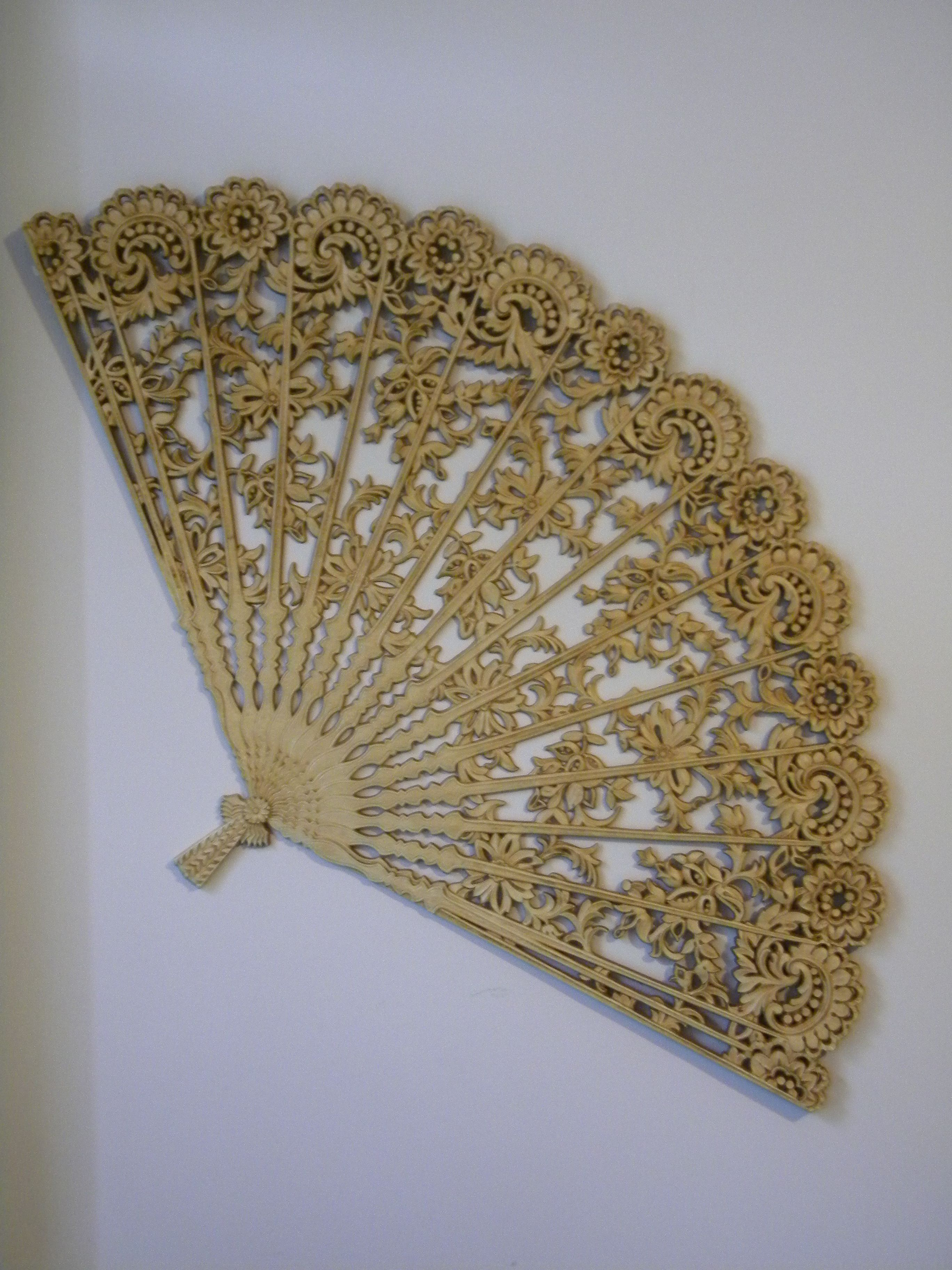 Huge Chinese Fan Wall Decor Love This Wall Fans Antique Fans