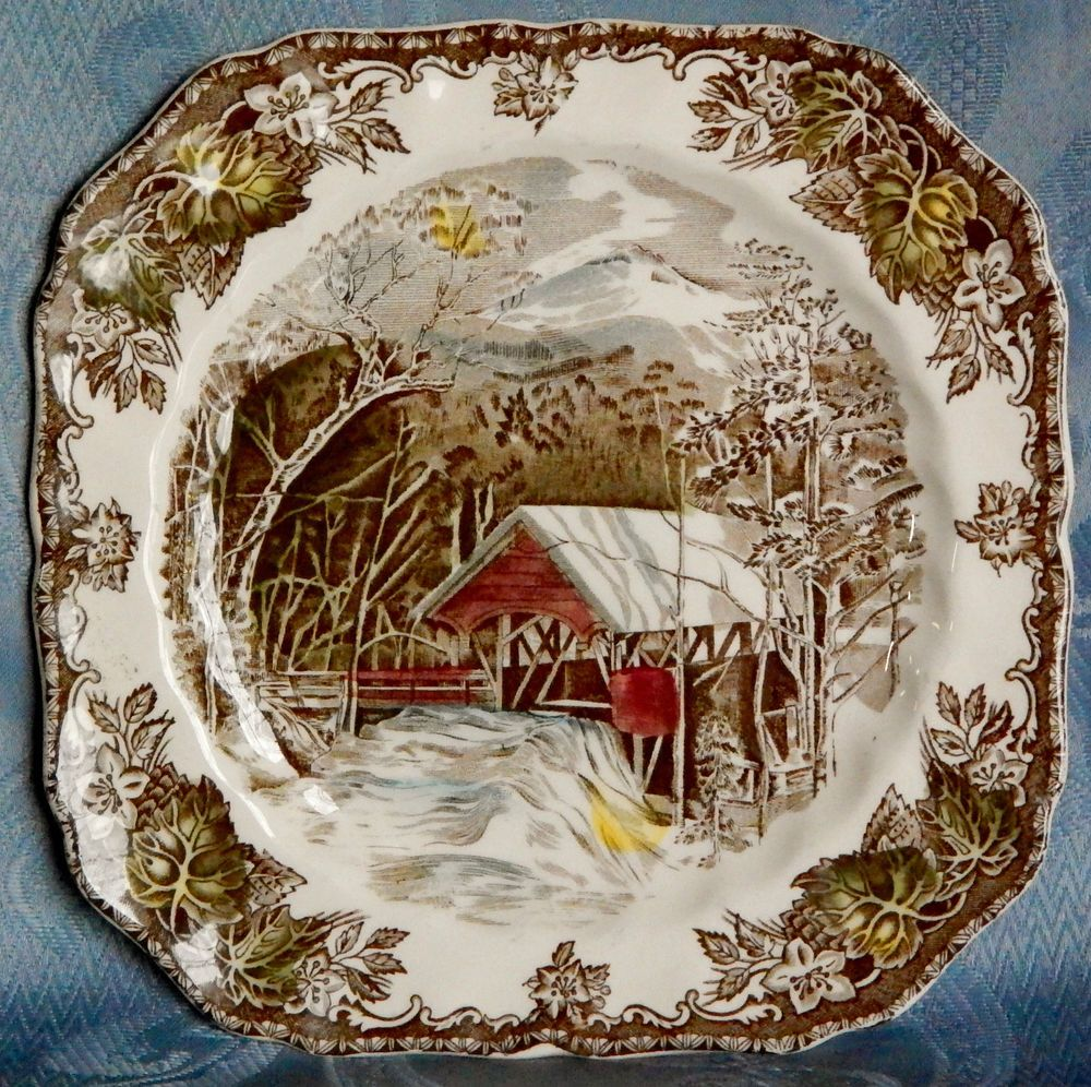 Johnson Bros Friendly Village Square Salad Plate, Johnson Brothers ...