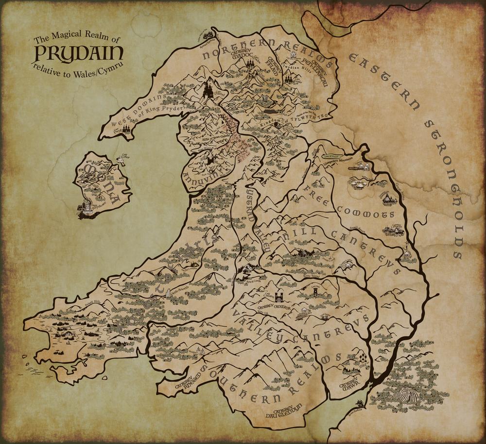 Maps of Prydain in 2019 Fantasy Worlds Pinterest