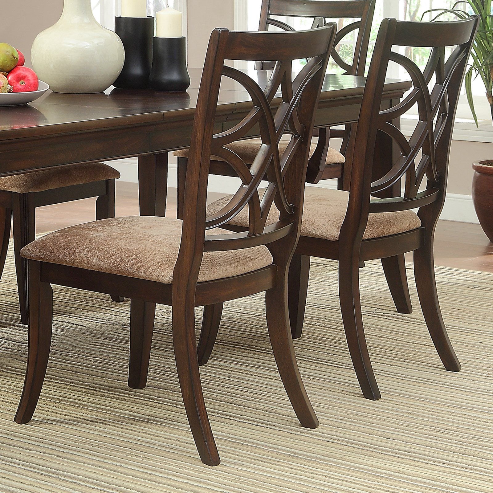 Brilliant Weston Home Keegan Side Chairs Cherry Set Of 2 In 2019 Home Interior And Landscaping Ologienasavecom