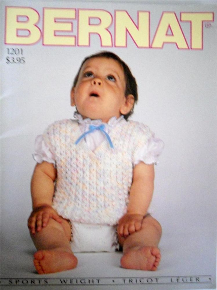 Vintage Knitting Pattern Book Bernat Baby Knitting Pattern Booklet