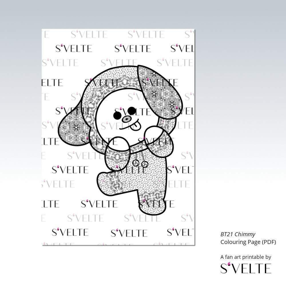 42 Coloring Page Bt21 Coloring Pages Printable Coloring Color