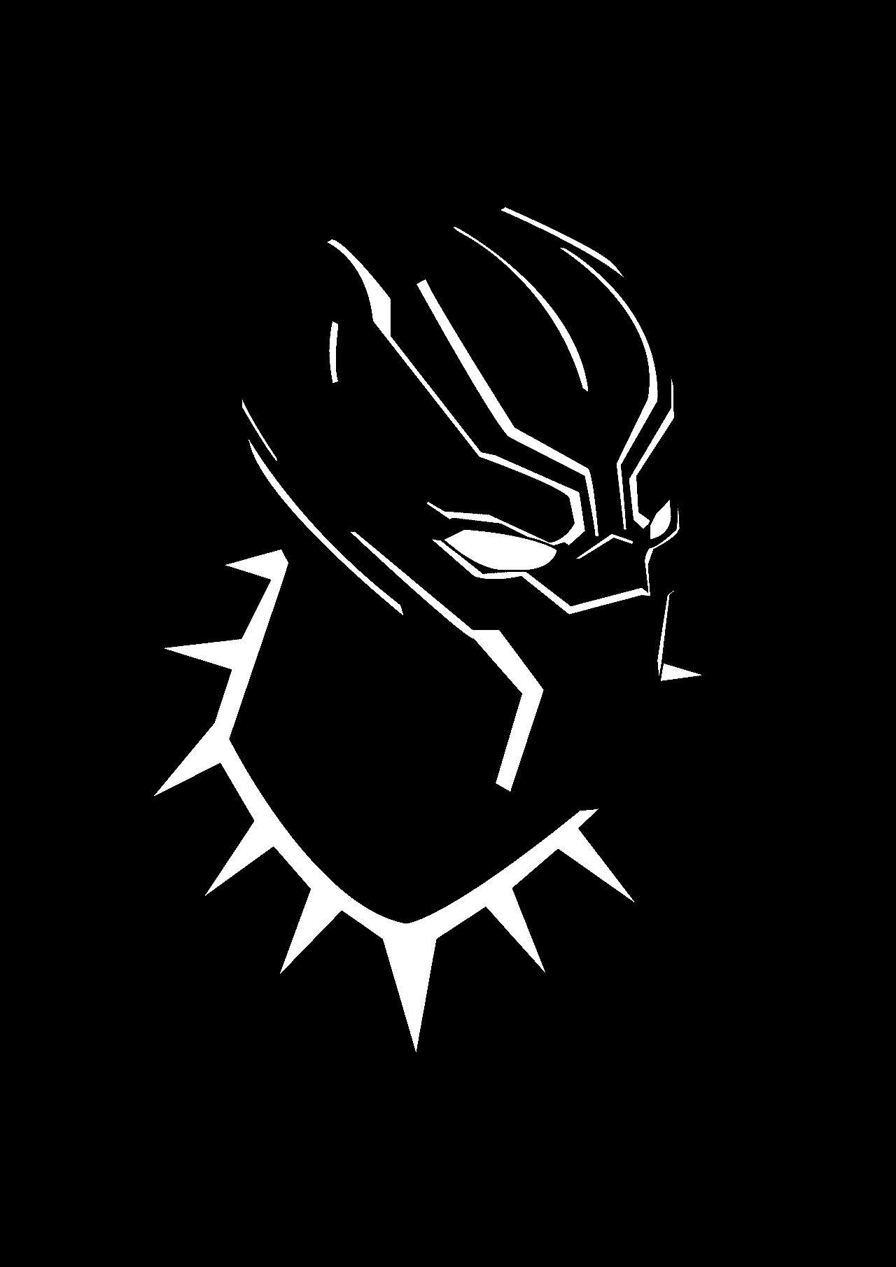 Mcu Black Panther Black White Art Black Panther Marvel Black Panther Hd Wallpaper Black Panther