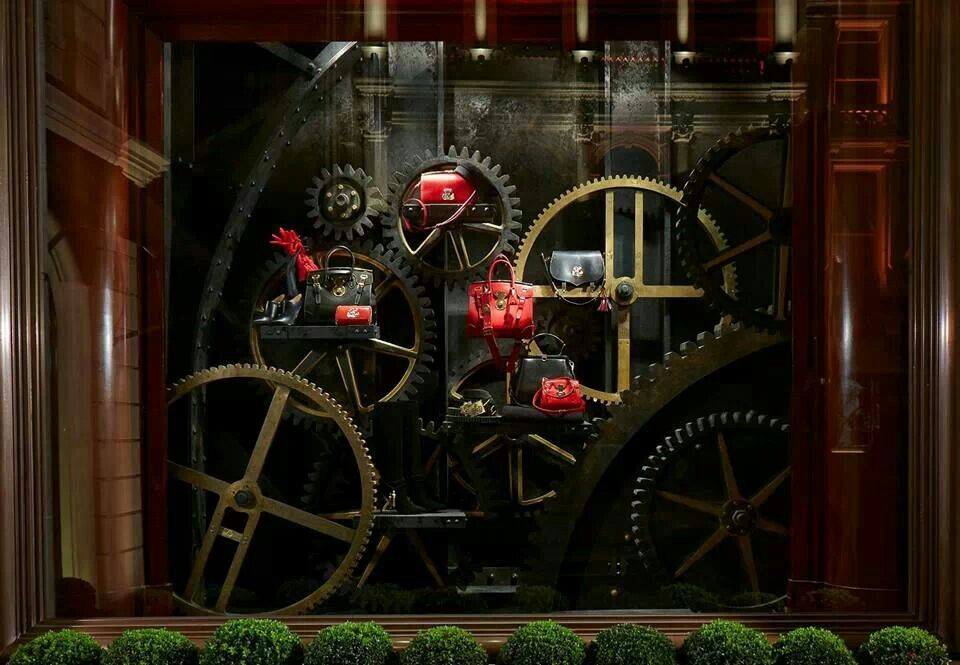 Steampunk style window in London. I love this