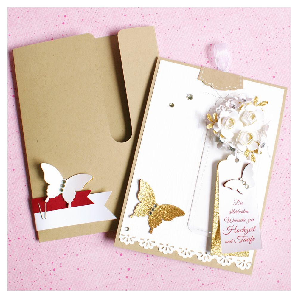 Mixed Doubles Wedding Cards With Slider Envelope Business Cards
