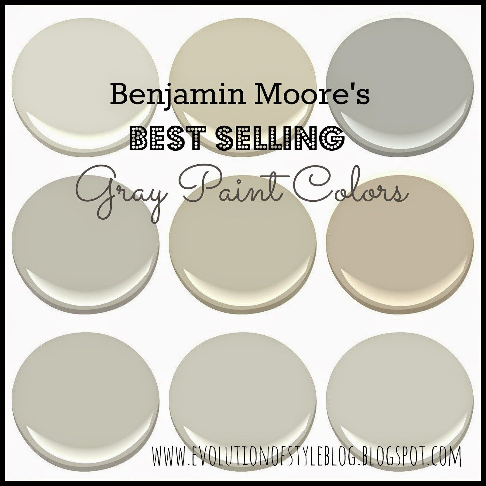 A Review Of Benjamin Moores Best Selling Gray Paint Colors