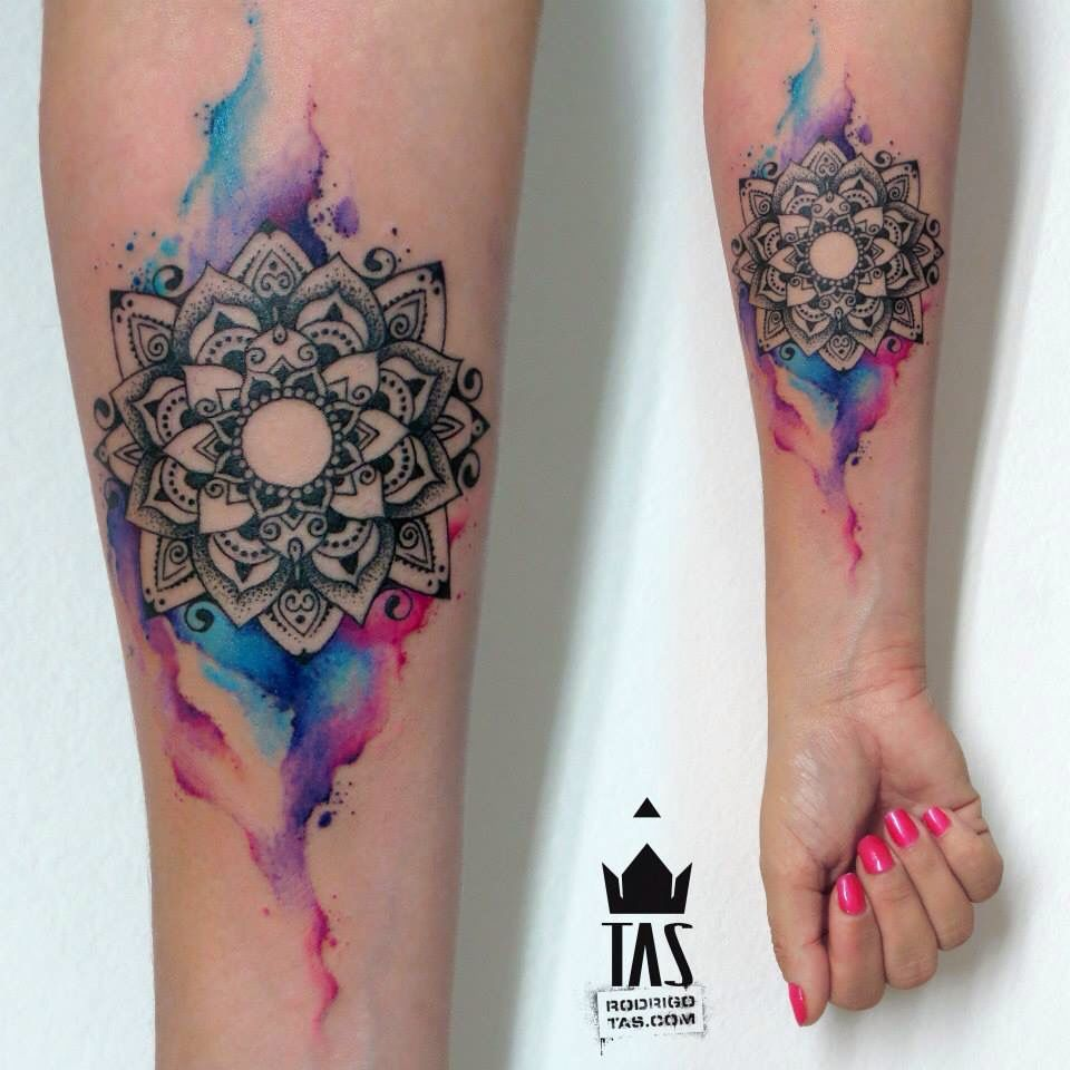 Mandala Watercolor Tattoo Watercolor Tattoos Paint Spatter