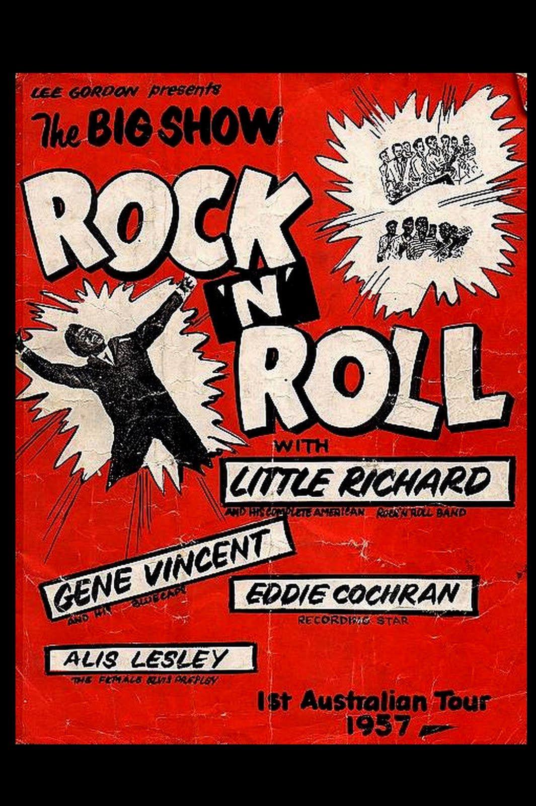 Rock n roll poster design - Vintage Rock Posters Stadium First Rock N Roll