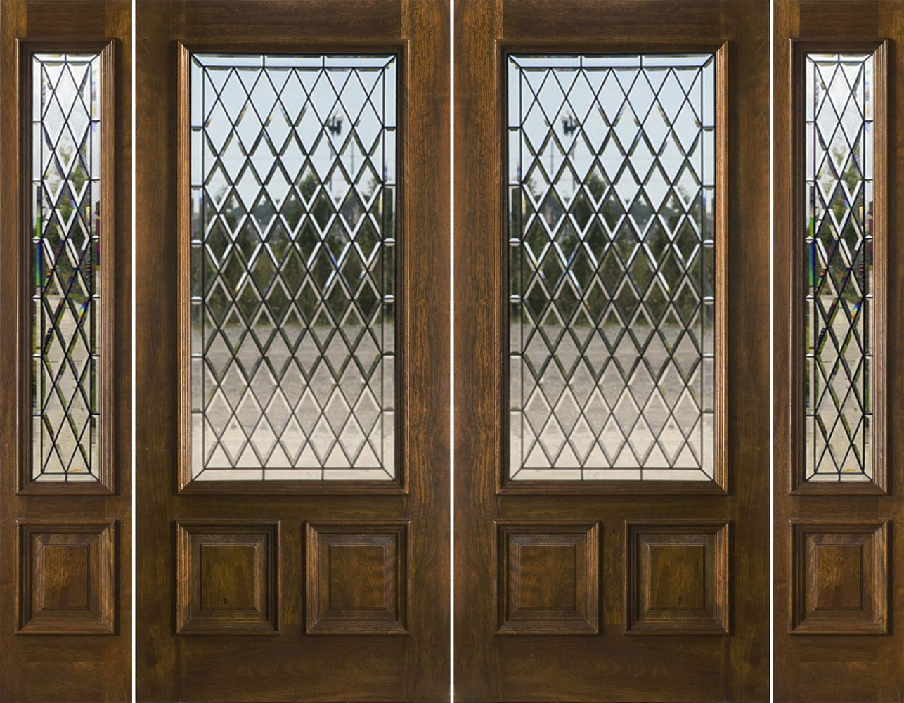 double entry doors with sidelights. 200 Series Double Door And Sidelights With Chateau Glass Entry Doors E