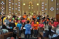 Youth choir dons Imagine No Malaria shirts