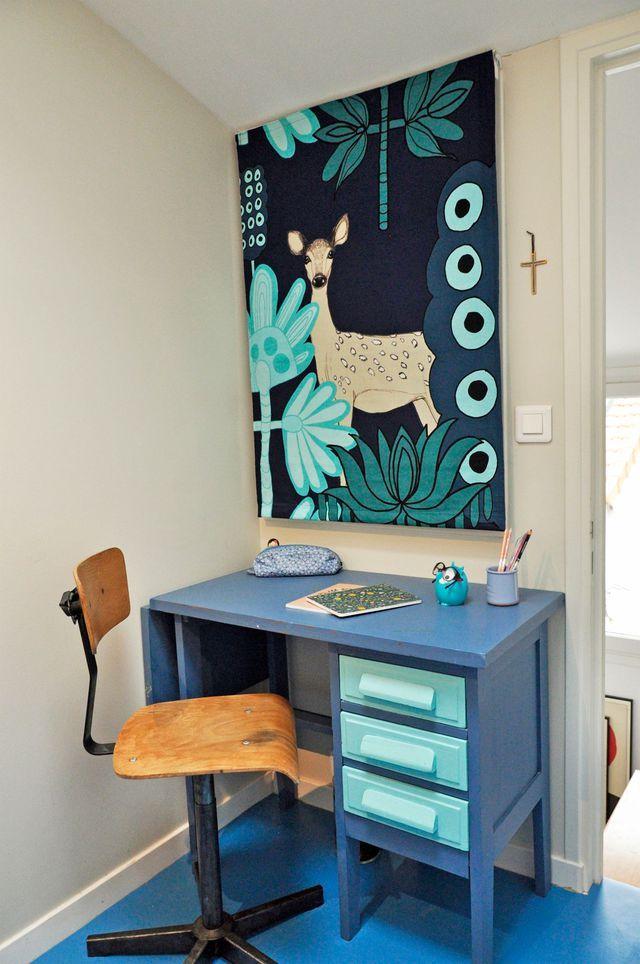 Petite chambre enfant sous combles | Pinterest | Coin bureau, Le ...