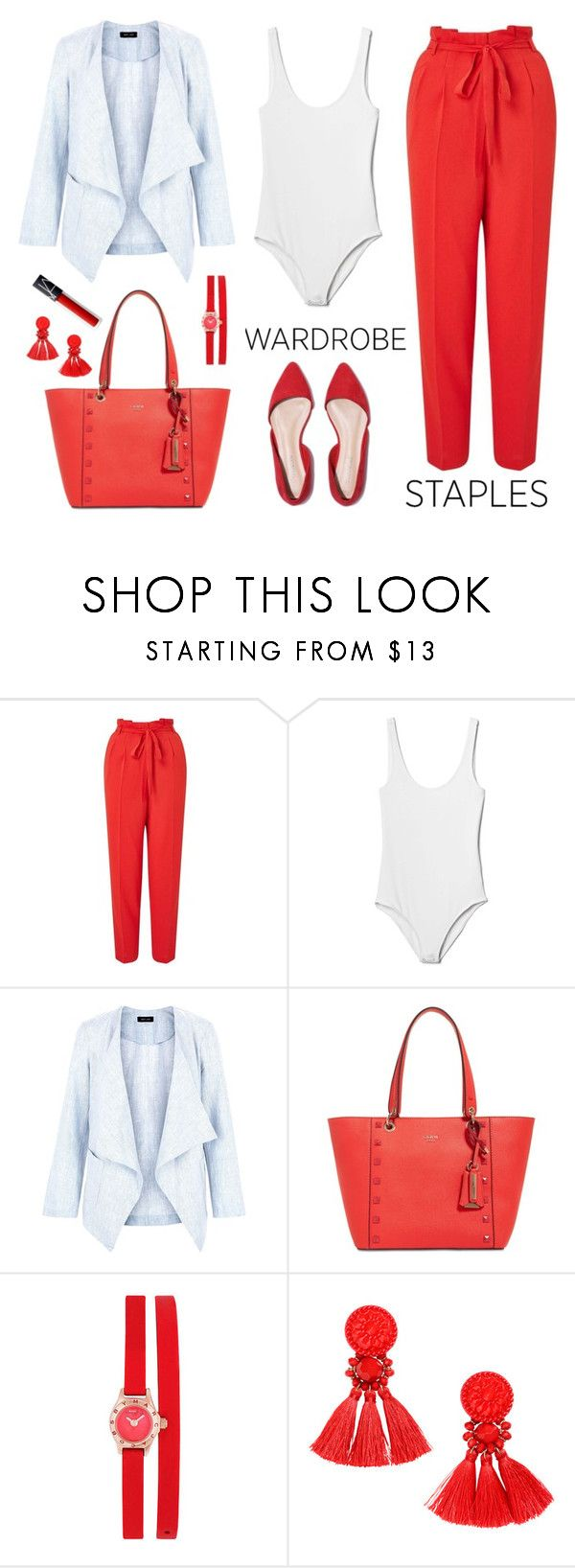 """🎈🎈🎈#wardrobestaples"" by mz-jill ❤ liked on Polyvore featuring Miss Selfridge, Gap, New Look, GUESS and Marc by Marc Jacobs"