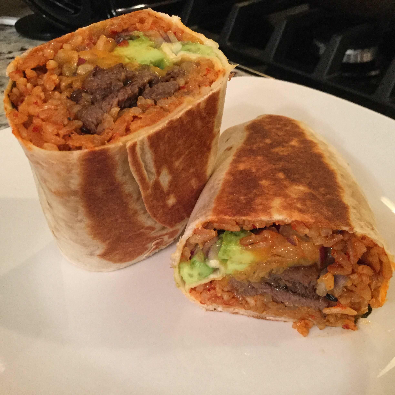 OC Grilled Bulgogi Burrito with Cheddar cheese Kimchi ...
