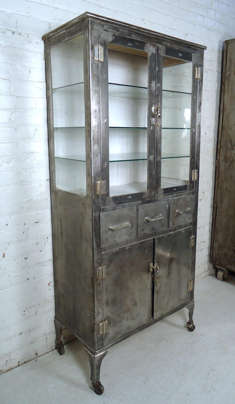 Vintage Industrial Metal Cabinet For Sale At 1stdibs Vintage Industrial Furniture Vintage Kitchen Cabinets Kitchen Cabinets For Sale