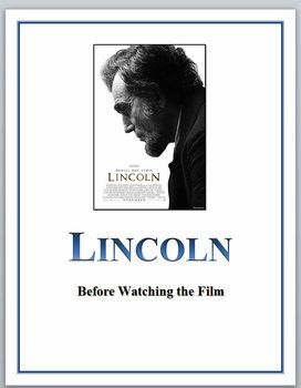 This Is A Set Of Five Activities For Students Before They Watch The Film Lincoln They Range From Pre Knowledge Activiti Film Student Activities Lincoln Movie