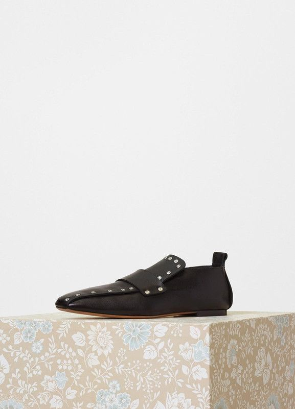 Céline Studded Leather Loafers finishline for sale fbUye26M2