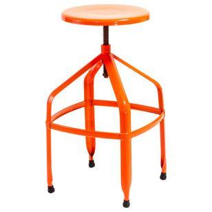Inspirational orange Adjustable Bar Stool