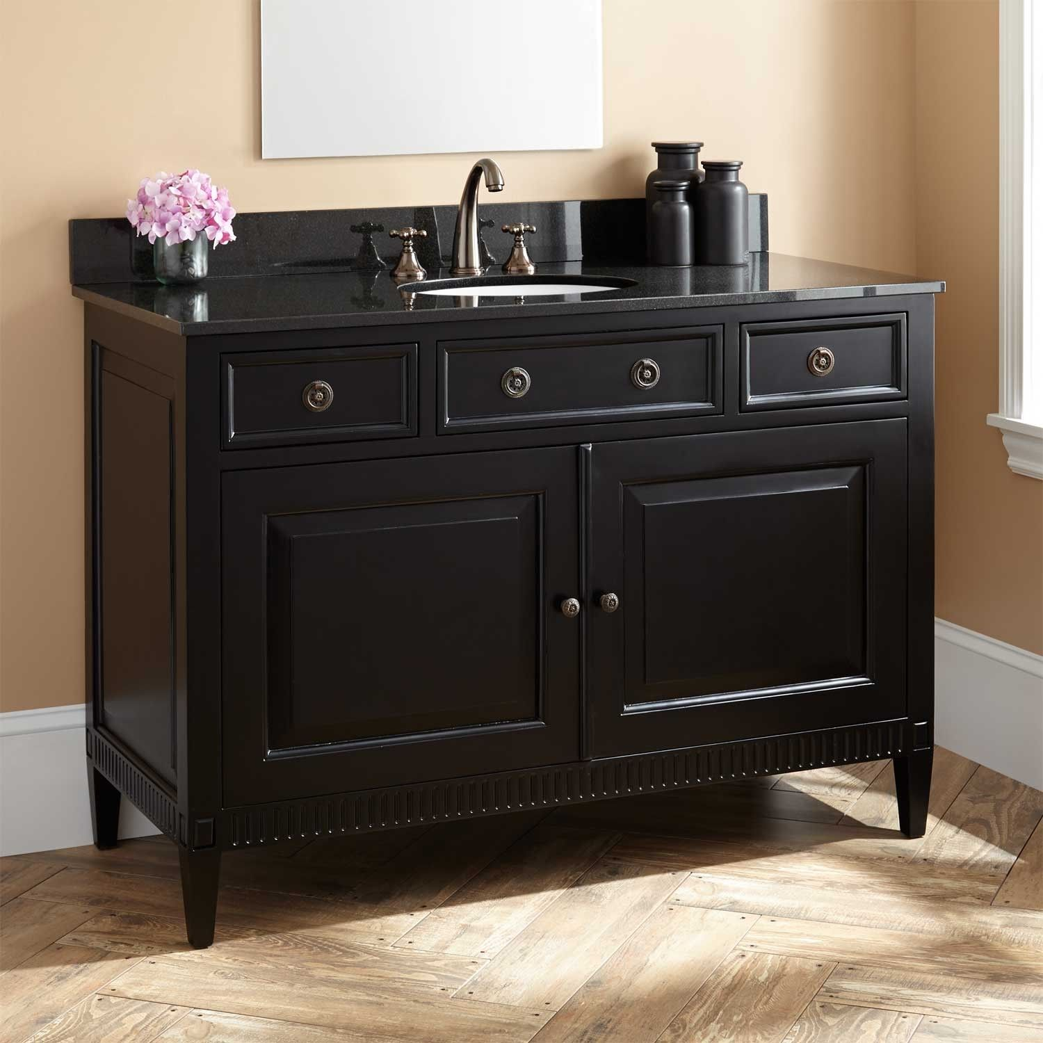 "48"" Hawkins Mahogany Vanity for Undermount Sink Black"