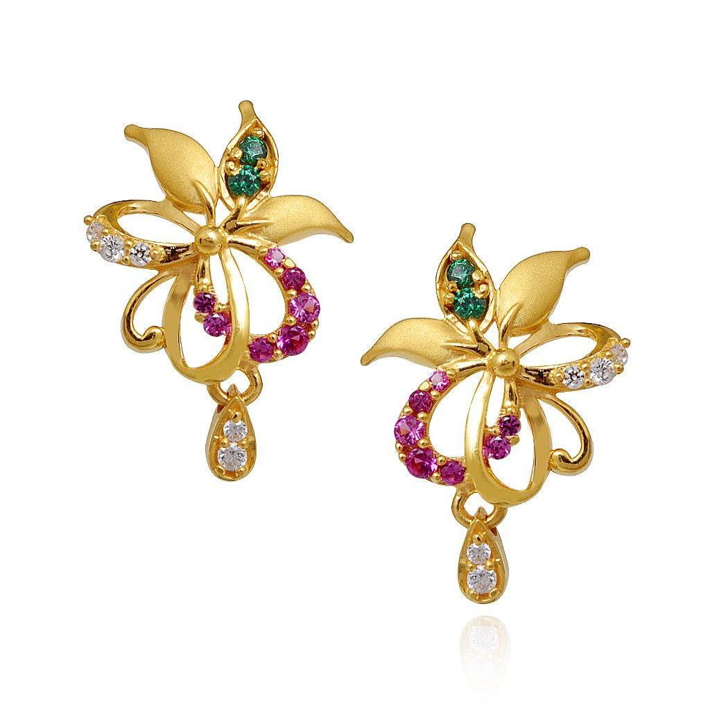 Gold Earrings Designs With Price In Tanishq Hd Trends For ...