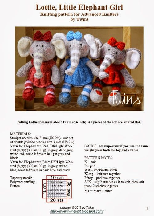 knitted elephant | Knit dolls | Pinterest | Muñecas y Tejido