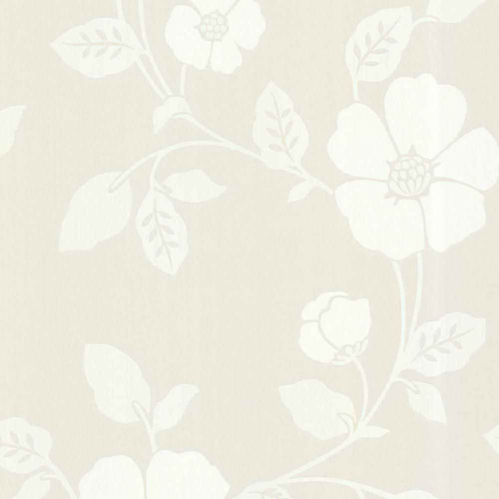 Beacon House Zync Off White Modern Floral Wallpaper 450 67324