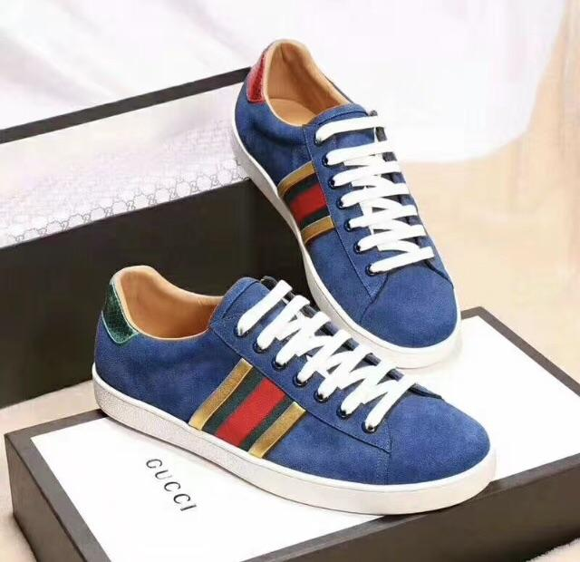 41c0ec599c91 Gucci Inspired New Blue Velvet Ace Sneaker