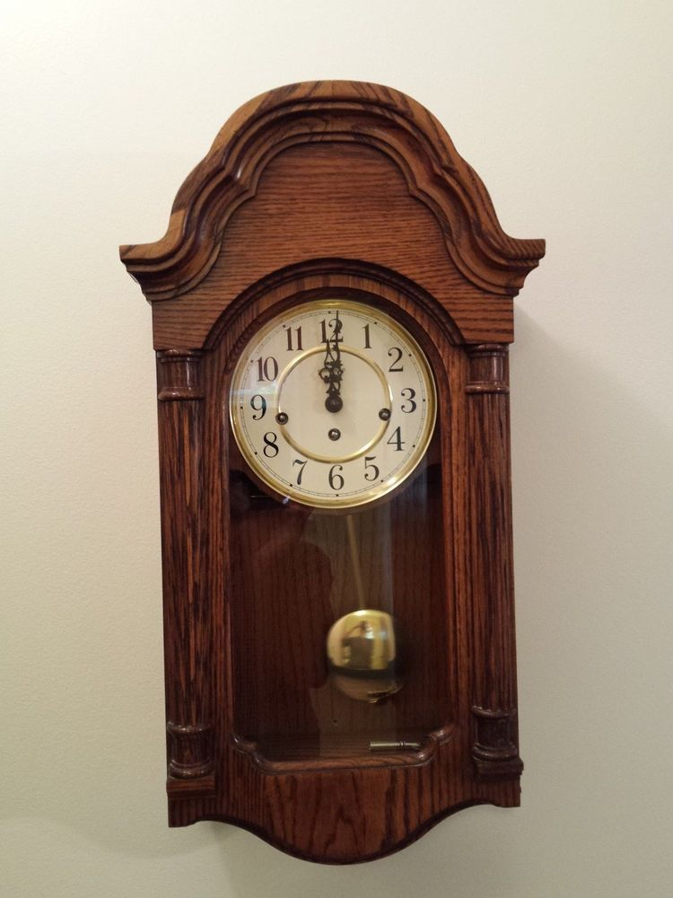 Howard Miller Pendulum Wall Clock Model 613-226 with Key