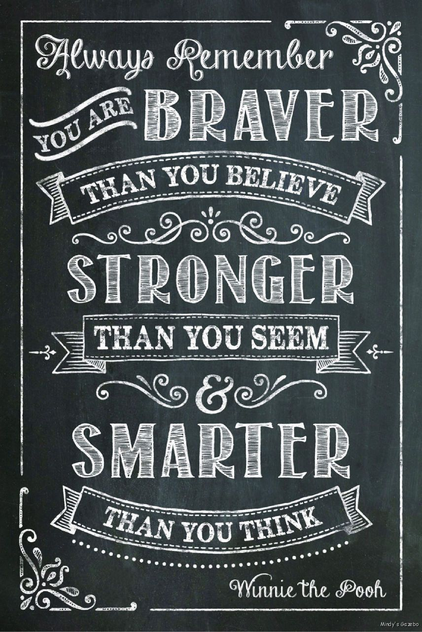 primitive black chalkboard wood sign you are braver than you