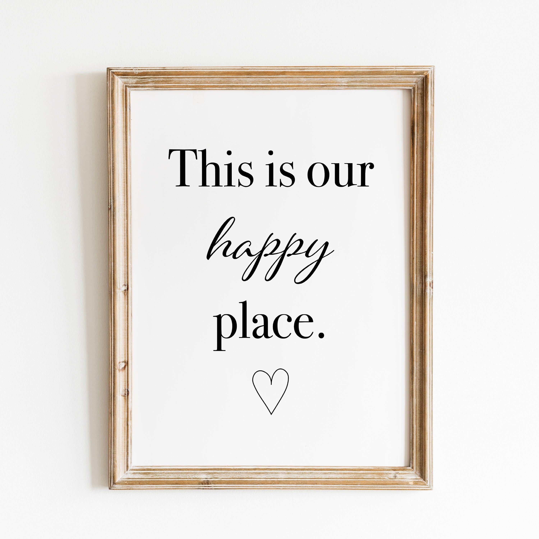 This is my happy place, Minimalistische Geschenkidee für Freunde ...