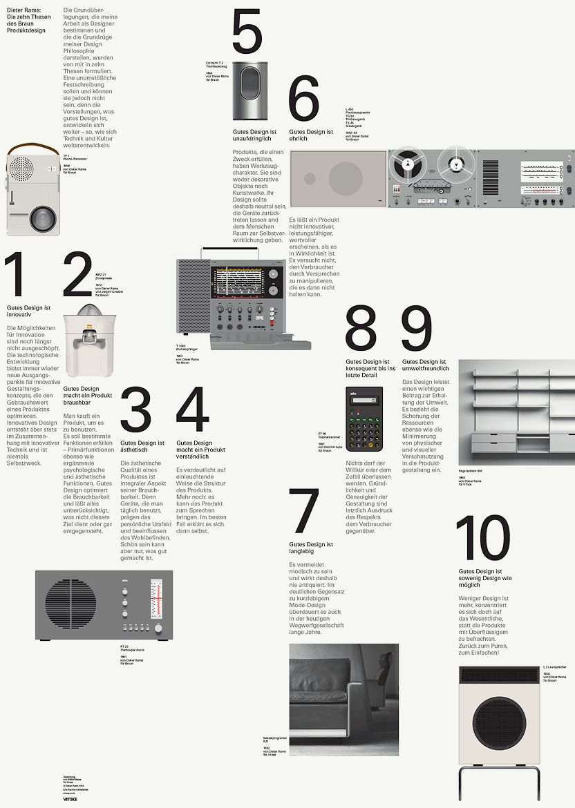 Dieter rams 10 thesen f r gutes design inspiration for Buch design