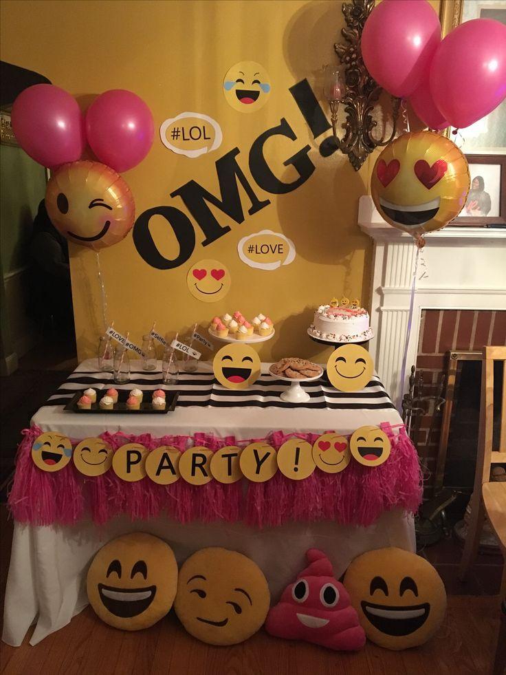 Resultado de imagen para cumplea os de emoji ideas for 13th birthday party decoration ideas