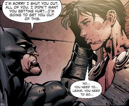 Da feels (: - :) Batman: I'm sorry I shut you out  All of