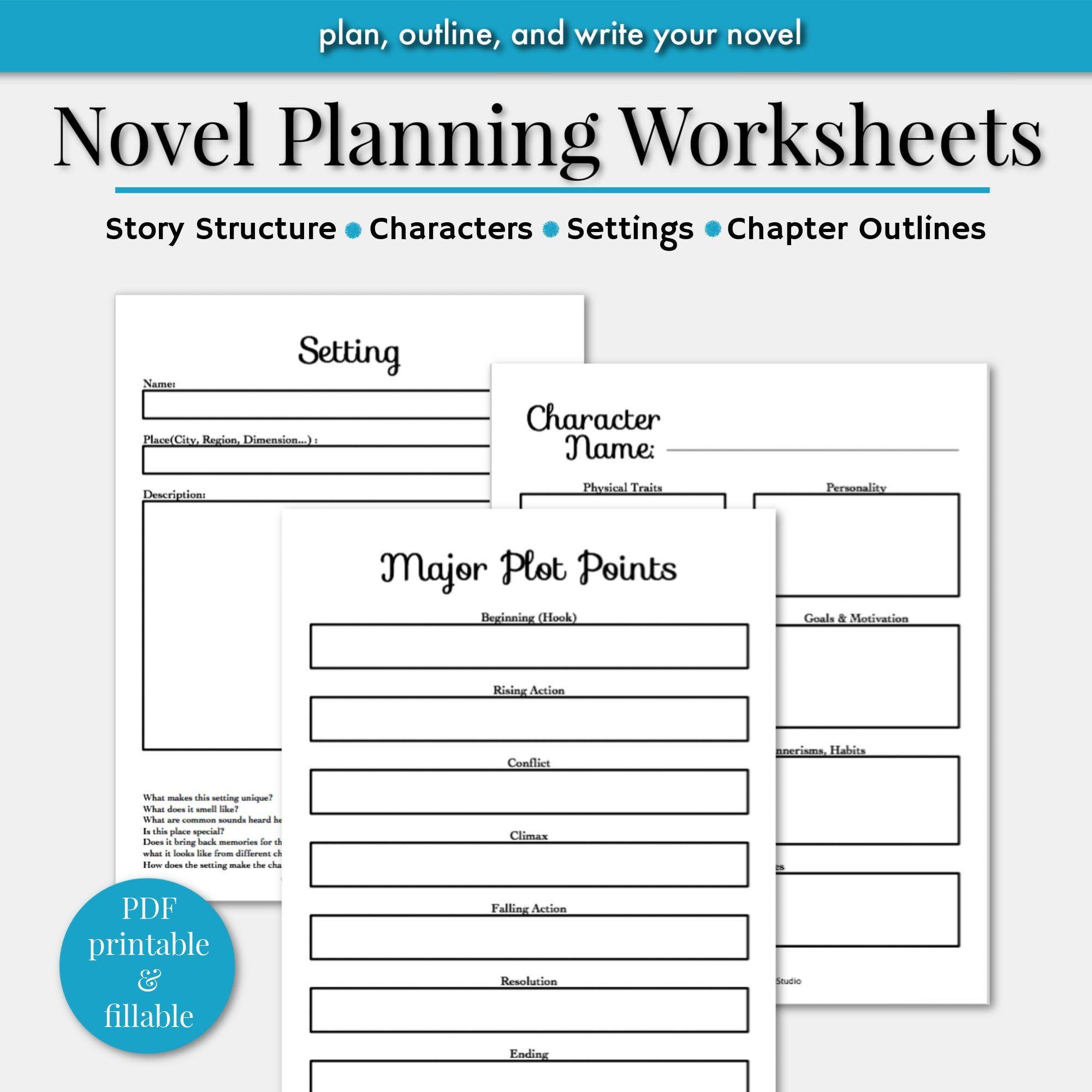Novel Writing Worksheets Writing Planner Novel Planner Etsy In 2021 Writing Worksheets Writing Templates Novel Writing Novel writing template printable