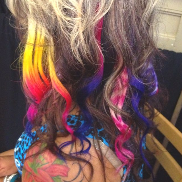 Colored And Printed Hair Extentions Hair Stuff Pinterest Hair