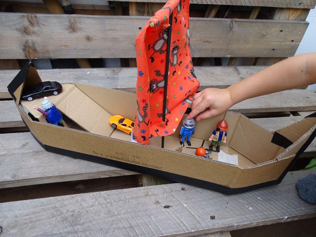 Karton Upcycling Wir Basteln Ein Schiff Vlikeveronika In