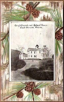 Hiram Maine Map.East Hiram Maine Church School House Postcard Maine Pinterest