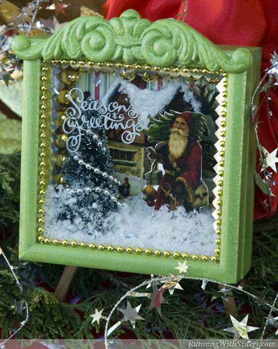 Dreaming Of A White Christmas Shadowbox Pinterest Tutorials, Box