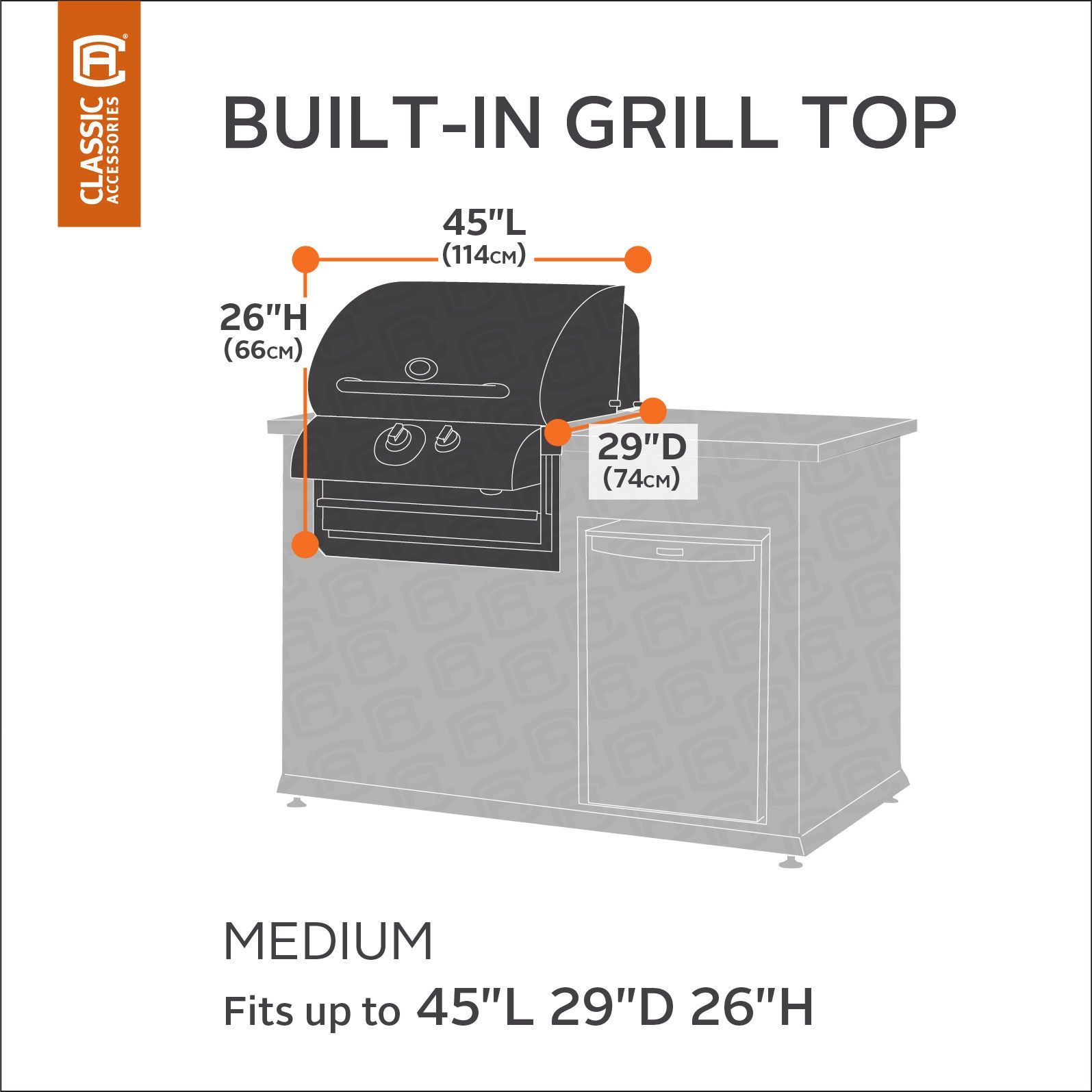 Hickory Heavy-Duty Built-In Grill Cover