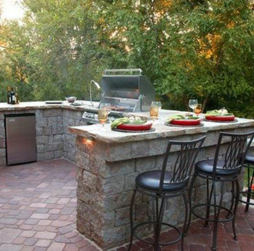 Outdoor Küche mit Grill ausgestattet | Hausideen | Pinterest ...