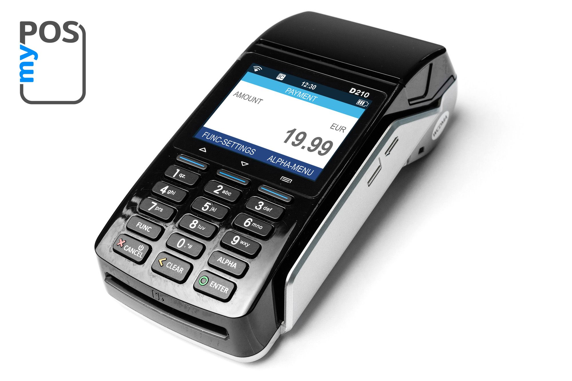 myPOS bo is a credit card terminal with Wi Fi Bluetooth and SIM connection