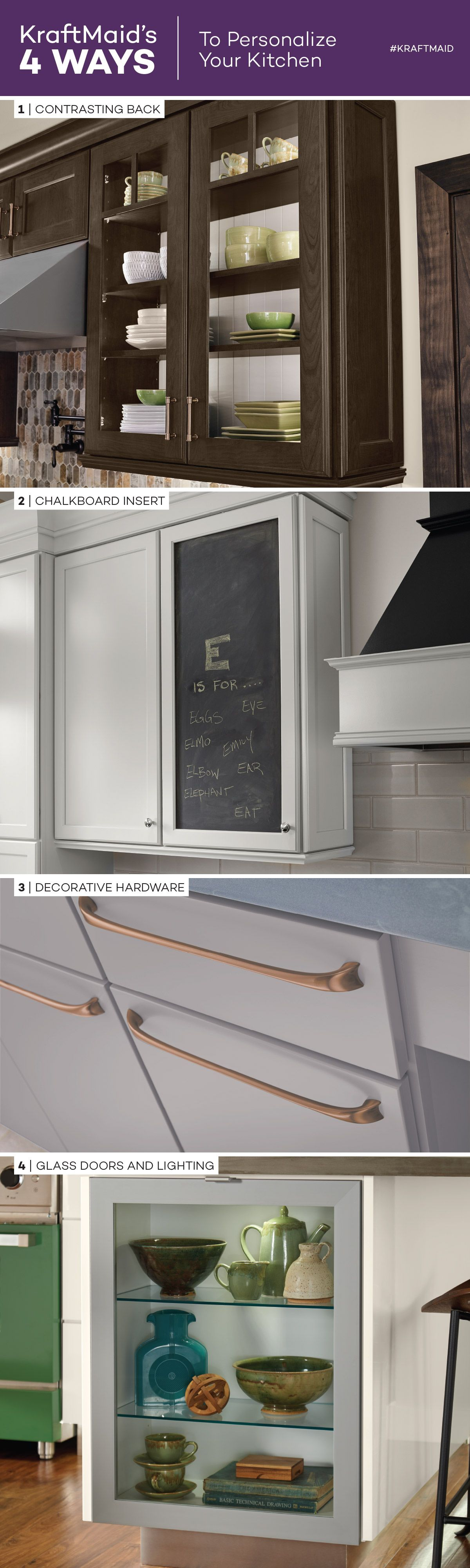 4 WAYS TO PERSONALIZE YOUR KITCHEN CABINETS