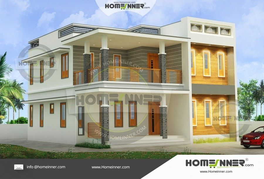 3 Bedroom Flat Roof Home Design Architectural House Plans Flat Roof Design Contemporary House Design