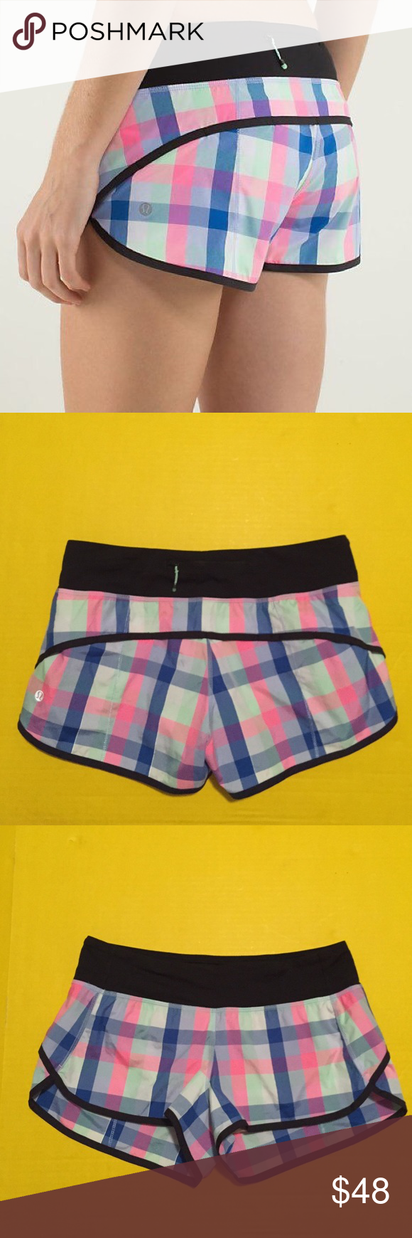 Lululemon speed shorts Like new Lululemon speed shorts, checkered multi color print, size 6, perfect condition with no flaws. Super comfortable and breathable. Bundle to save  lululemon athletica Shorts