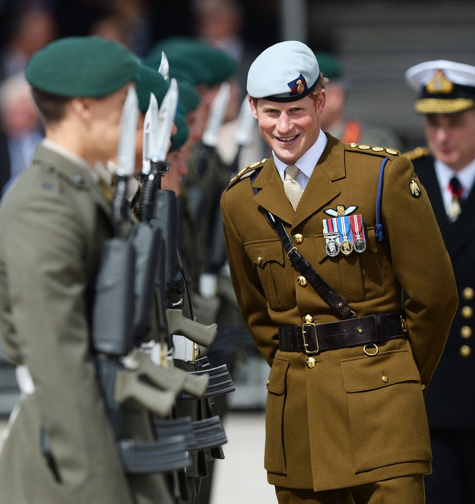 Prince Harry In His Air Corps Uniform During A Visit To A