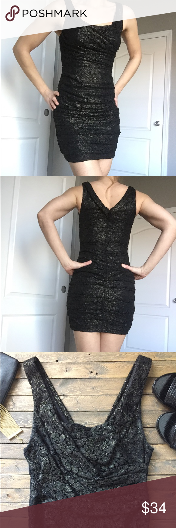 Express Black Lace Dress Gold Lace Dresses Form Fitting Dress Fashion [ 1740 x 580 Pixel ]