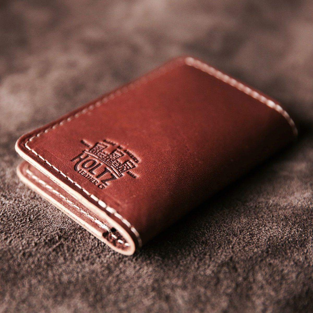 The Vincent Fine Leather Business Card Holder Wallet Bifold