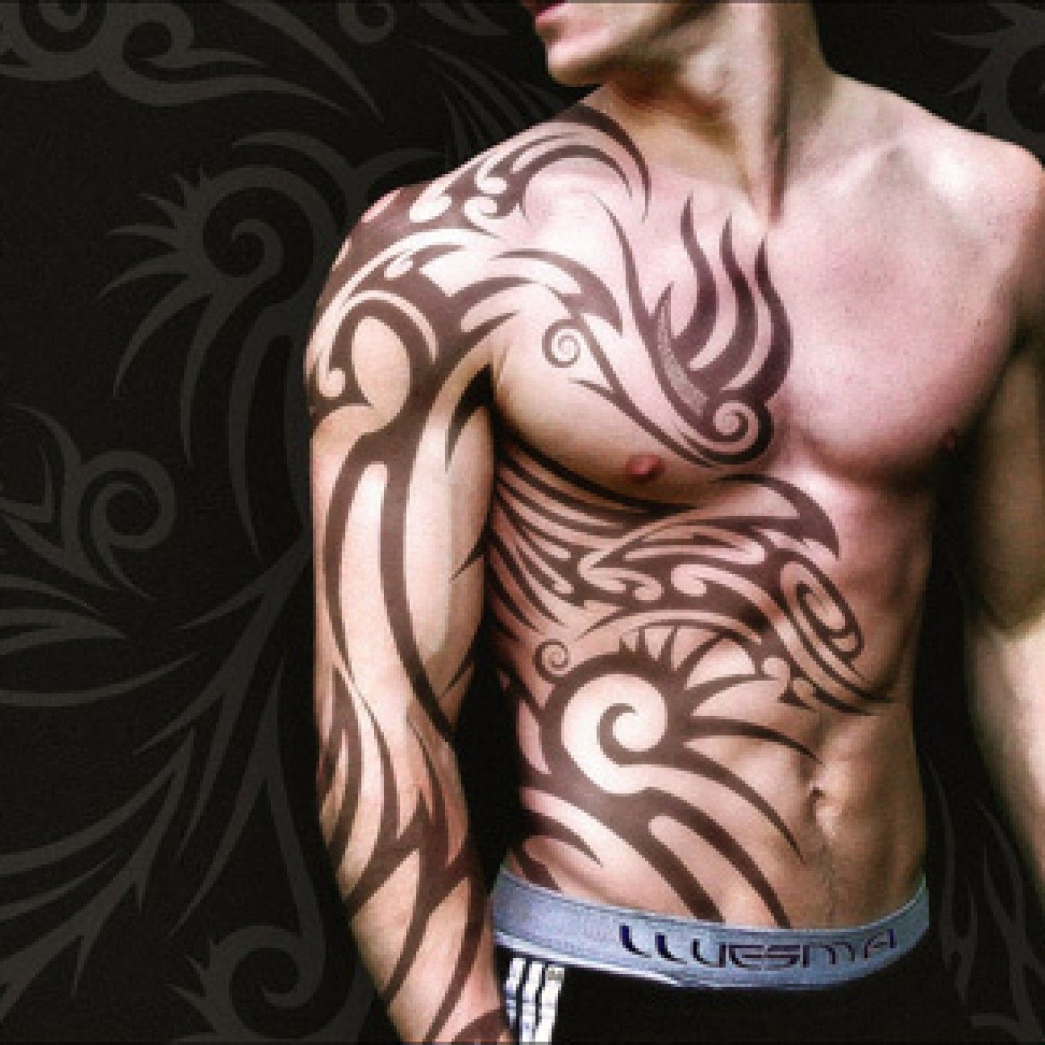 d33814e3f 28 Insanely Cool Tribal Tattoos for Men | Tattoo's | Tribal sleeve ...