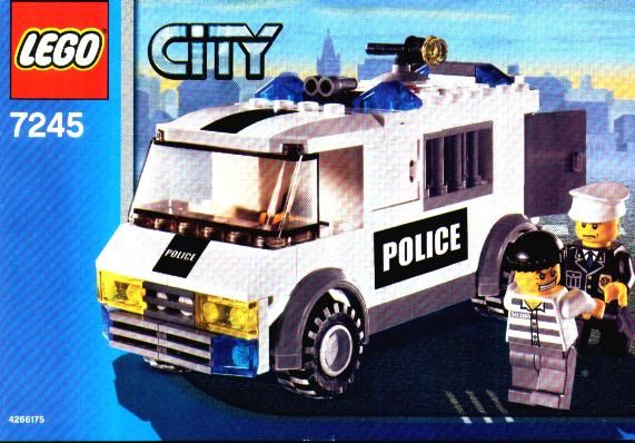 City Police Rescue Prisoner Transport Lego 7245 Tractors For
