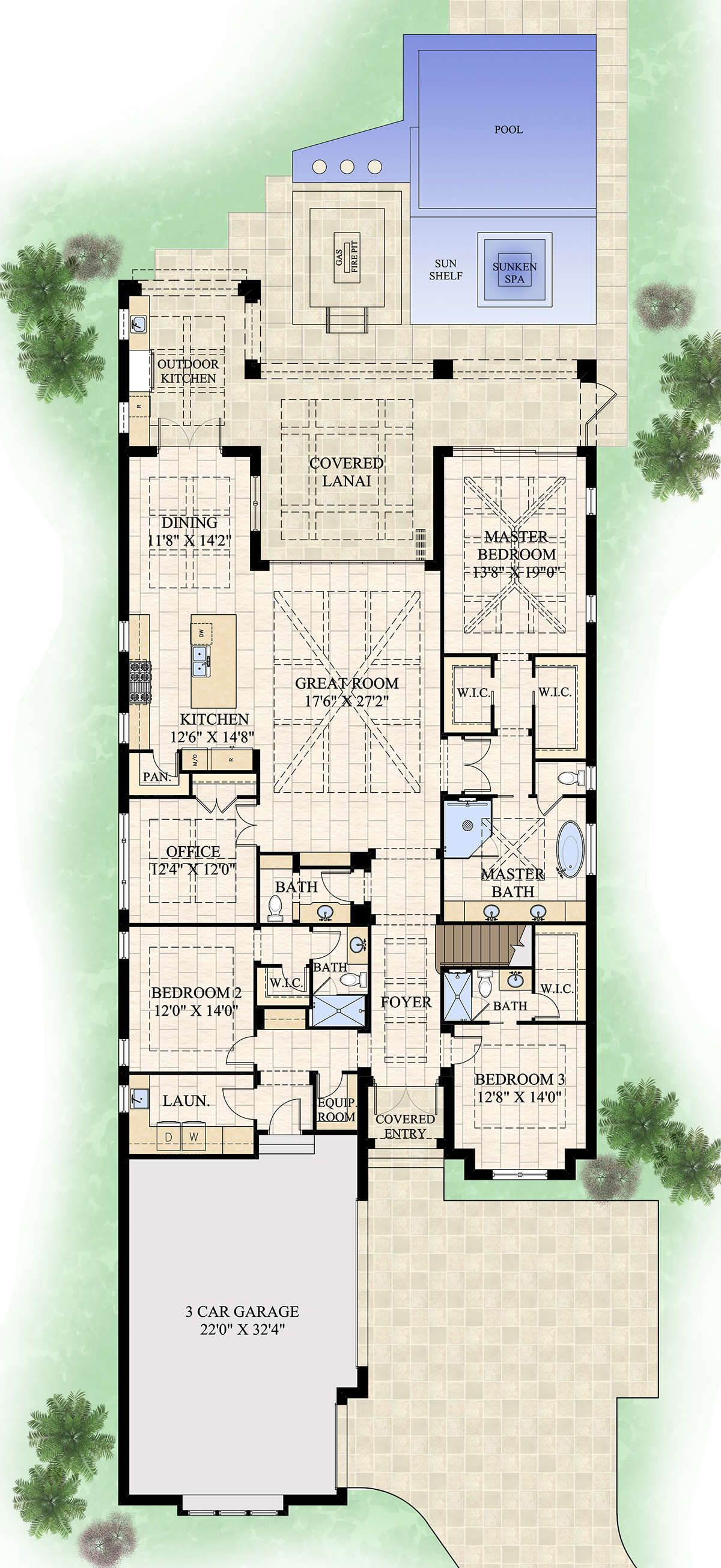 House Plan 748 00001 Florida Plan 3 996 Square Feet 5 Bedrooms 5 5 Bathrooms In 2020 Florida House Plans House Floor Plans House Plans